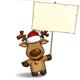 Christmas Elks Placard - GraphicRiver Item for Sale
