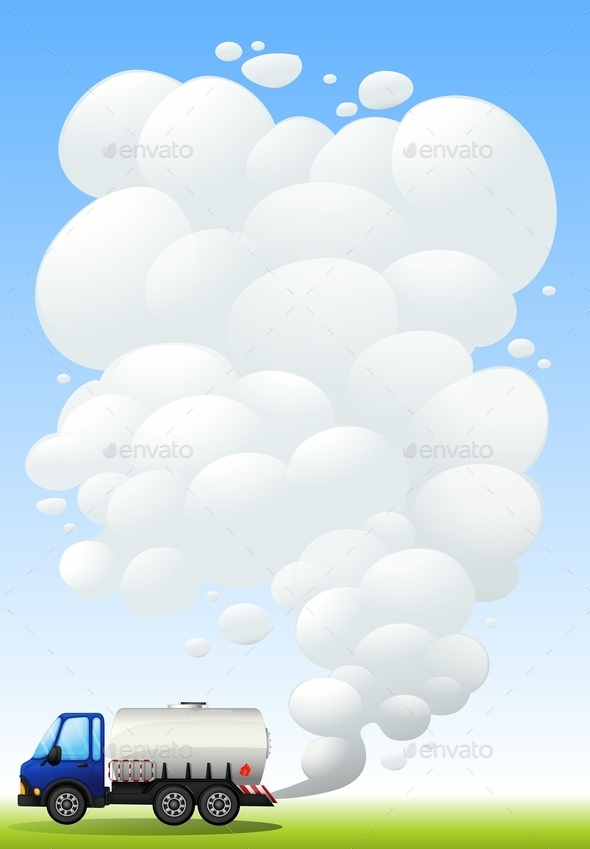 GraphicRiver A Gasoline Truck Emitting Smoke 9502962