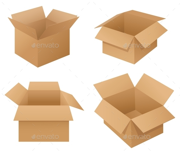 GraphicRiver Cardboard Boxes 9502974