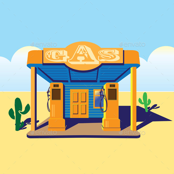 GraphicRiver Gas Station 9503003