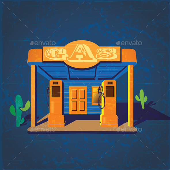 GraphicRiver Old Gas Stations 9503015