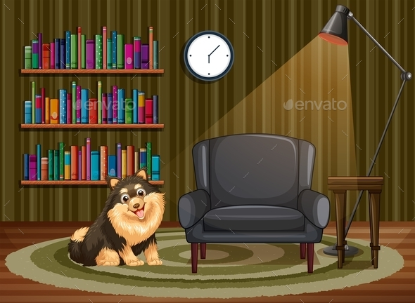 GraphicRiver Dog and Living Room 9503019