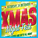 Xmas Night Fest Party Flyer - GraphicRiver Item for Sale