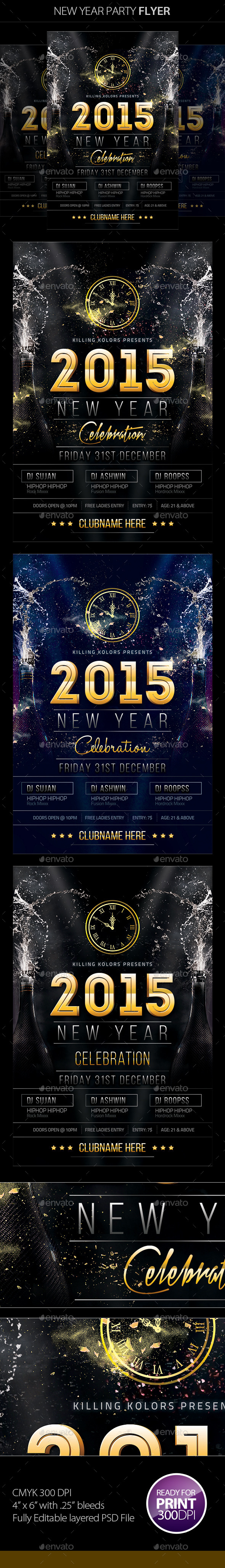 GraphicRiver New Year Party Flyer 9503050