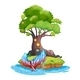 Island with Mermaid - GraphicRiver Item for Sale