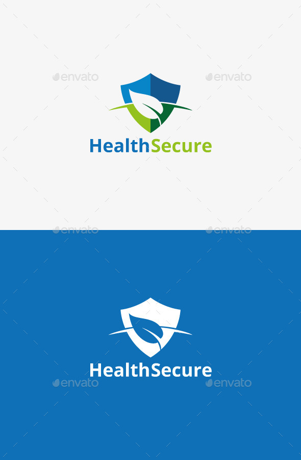 logo template graphicriver health secure 9503200. Black Bedroom Furniture Sets. Home Design Ideas