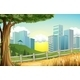 Hills with Buildings  - GraphicRiver Item for Sale
