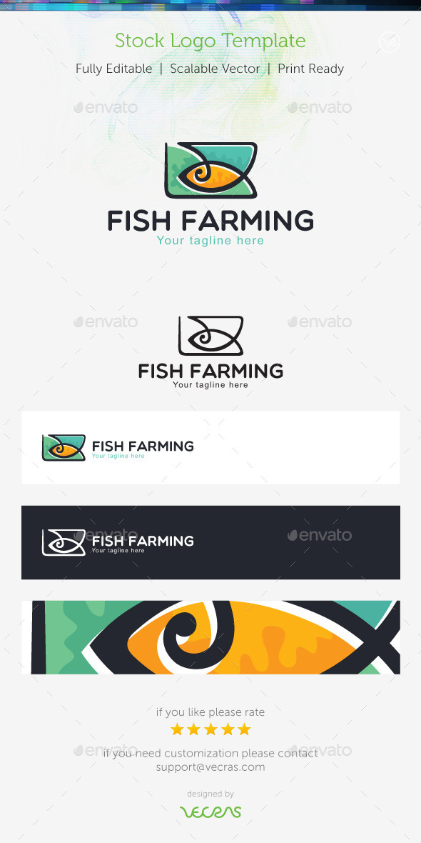 GraphicRiver Fish Farming Stock Logo Template 9503355