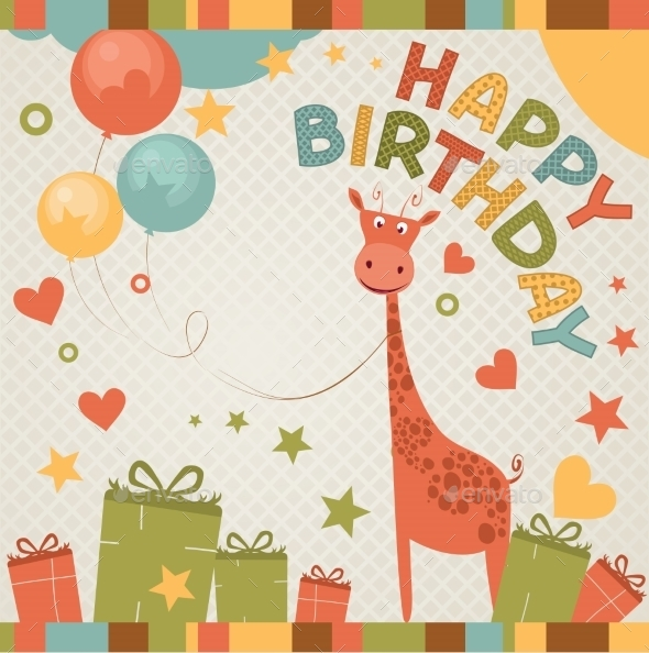 GraphicRiver Happy Birthday Card 9503399