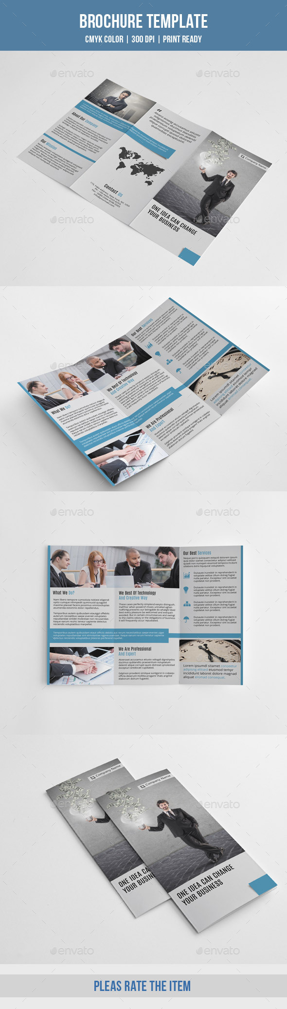 GraphicRiver Minimal Trifold Business Brochure-V188 9503430