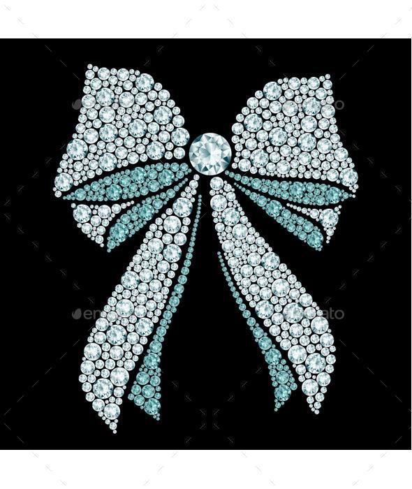 GraphicRiver Diamond Bow 9503435