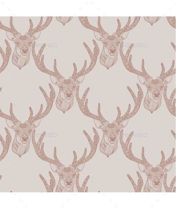 GraphicRiver Deer Pattern 9503441