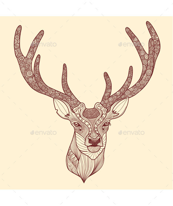 GraphicRiver Deer Head 9503443