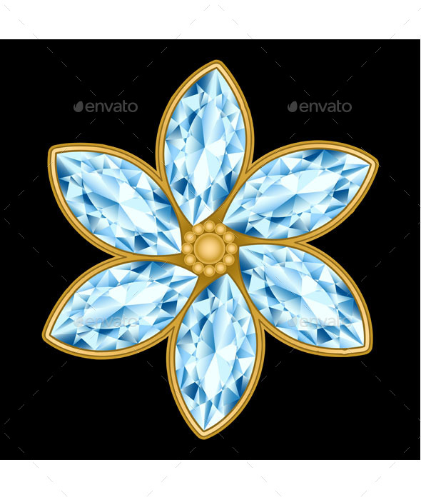 GraphicRiver Flower Gemstone 9503458