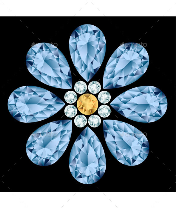 GraphicRiver Flower Gemstone 9503463