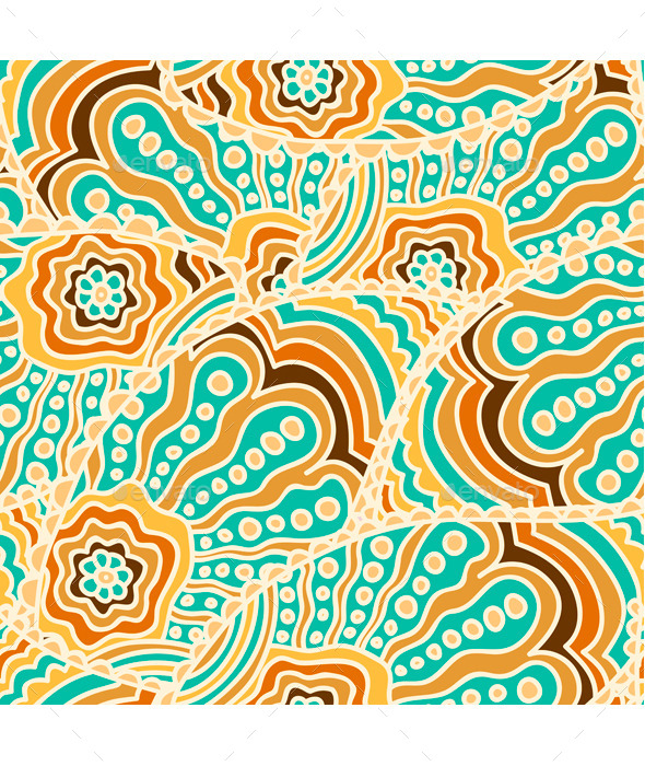 GraphicRiver Seamless Paisley Pattern 9503468