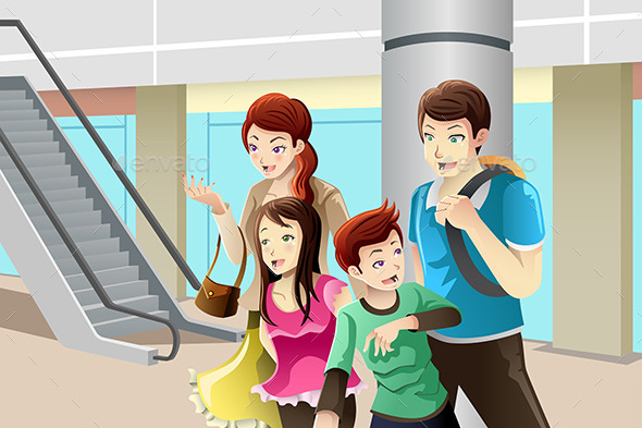 GraphicRiver Family going to Shopping 9503829