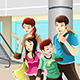 Family going to Shopping - GraphicRiver Item for Sale