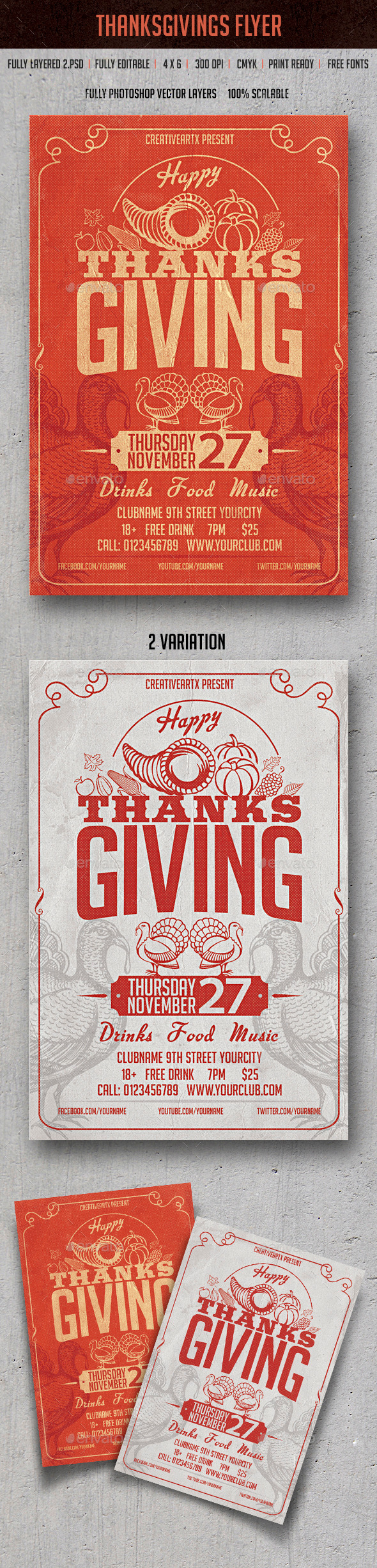 GraphicRiver Thanksgiving 9503839