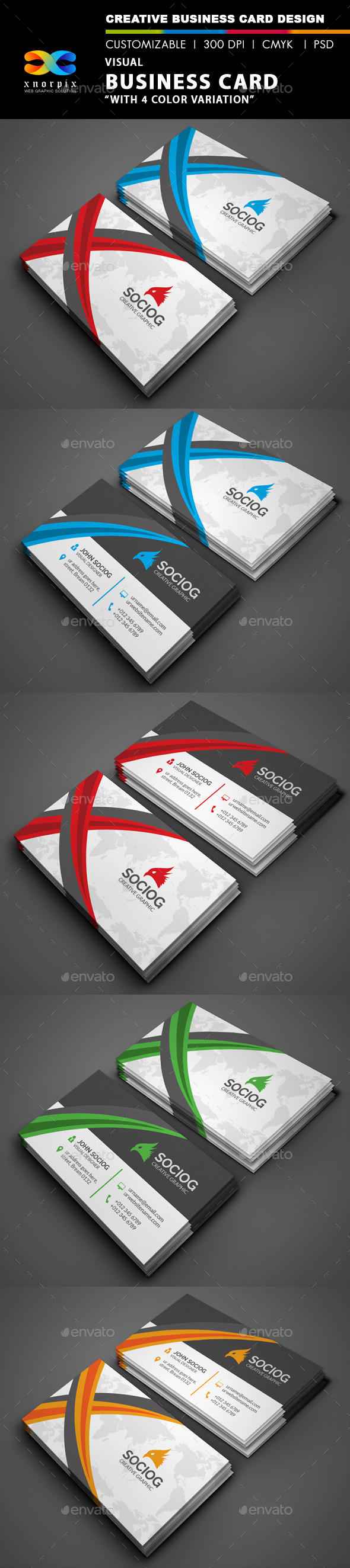 GraphicRiver Visual Business Card 9503858