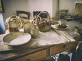 Table with ingredients and kitchen tools. - PhotoDune Item for Sale