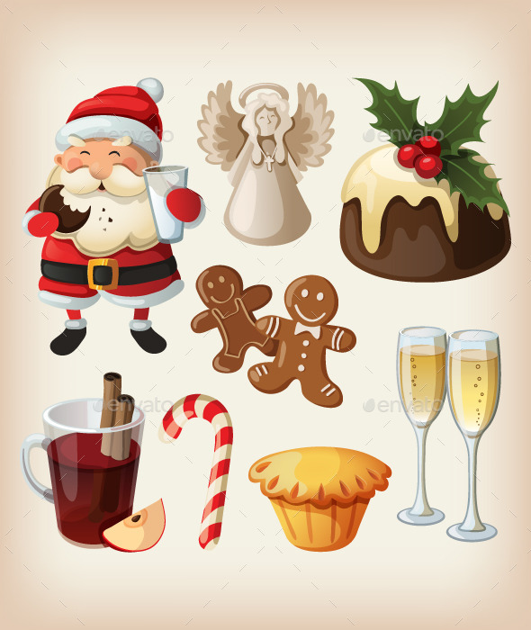 GraphicRiver Set of Christmas Festive Food 9503918