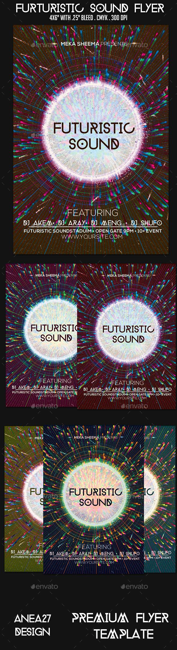 GraphicRiver Futuristic Sound Flyer 9503926