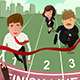 Business People running in Competition - GraphicRiver Item for Sale