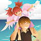 Girl playing with her Dad - GraphicRiver Item for Sale