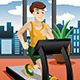 Man running on Treadmill - GraphicRiver Item for Sale