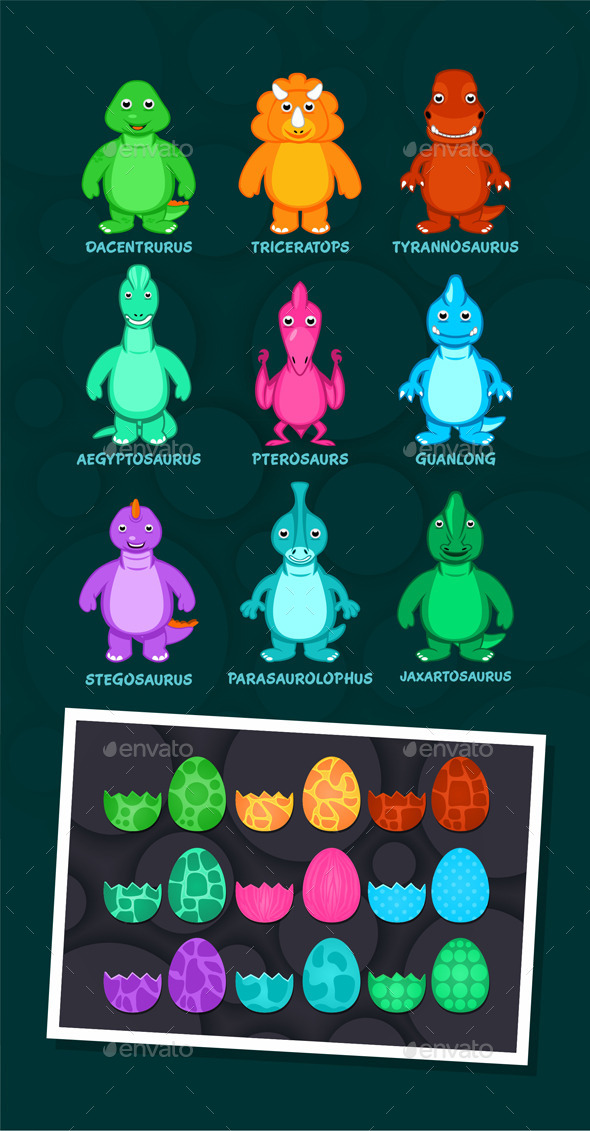 GraphicRiver Dinosaurs with Eggs 9508398