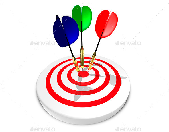 GraphicRiver Three Darts in Target 9428271