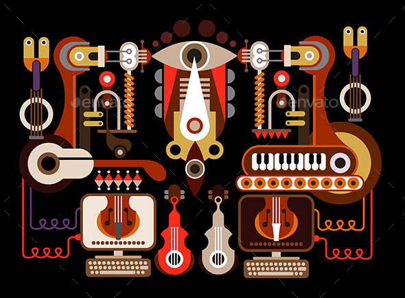 GraphicRiver Musical Instrument Factory 9508851