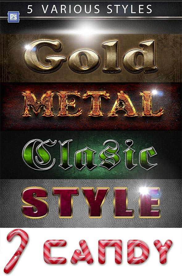 GraphicRiver 5 Various PS Styles Font Part 2 9447306