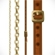 Leather Belts with Brass Buckles and Chain - GraphicRiver Item for Sale