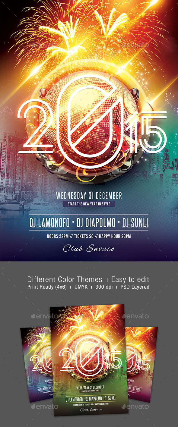 GraphicRiver New Years Party Flyer 9509509
