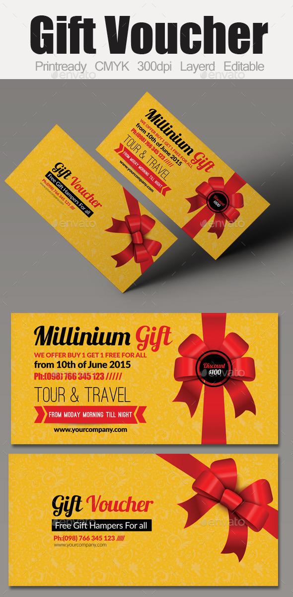 GraphicRiver Multi Use Business Gift Voucher 9509792