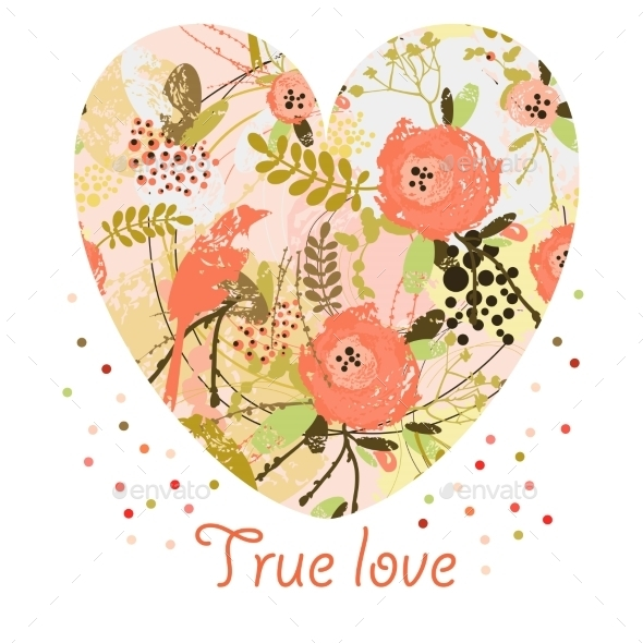 GraphicRiver Floral Heart 9509804
