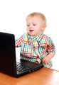 Baby Boy with Laptop - PhotoDune Item for Sale