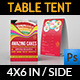 Cafe and Restaurant Table Tent Vol.4 - GraphicRiver Item for Sale
