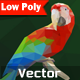 Polygonal Vector Parrot  - GraphicRiver Item for Sale