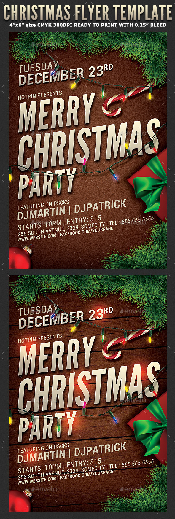 GraphicRiver Christmas Event Party Flyer 9510273