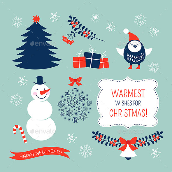 GraphicRiver Christmas Graphic Elements Set 9510515
