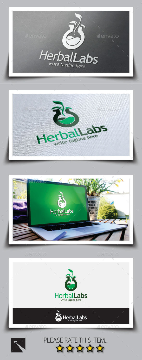 GraphicRiver Herbal Lab Logo Template 9510629