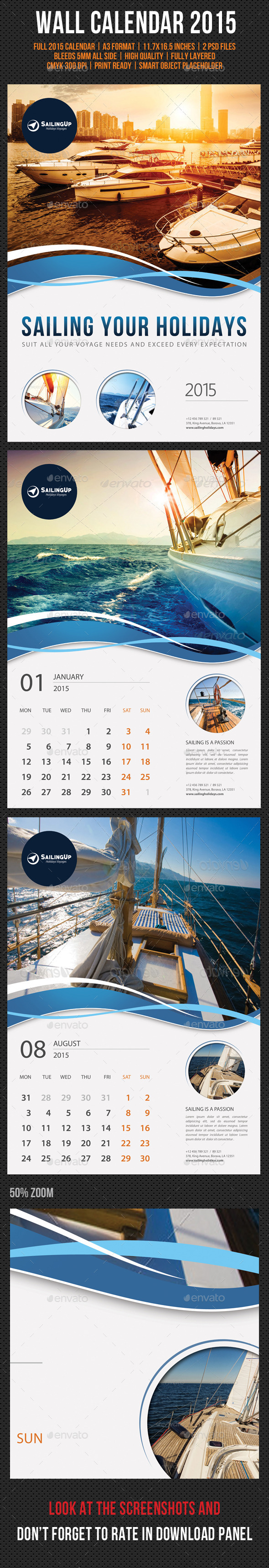 GraphicRiver Wall Calendar 2015 V15 9510805