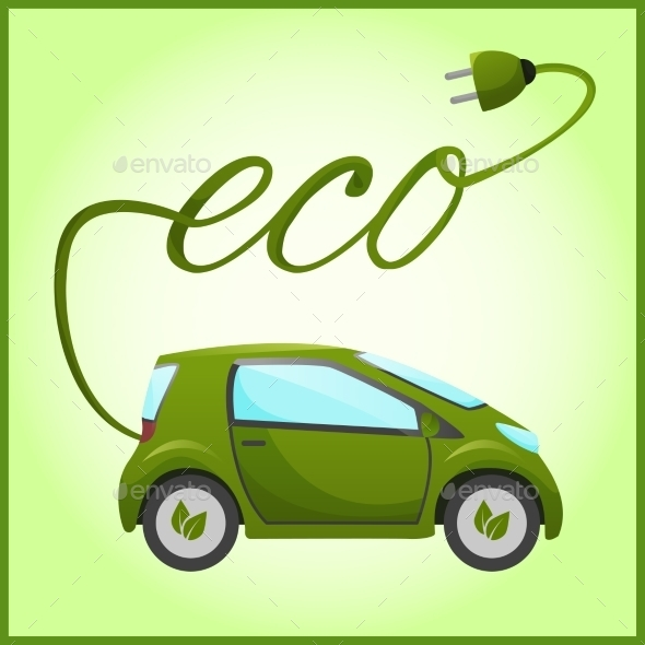 GraphicRiver Electric Car with Eco Design 9510890