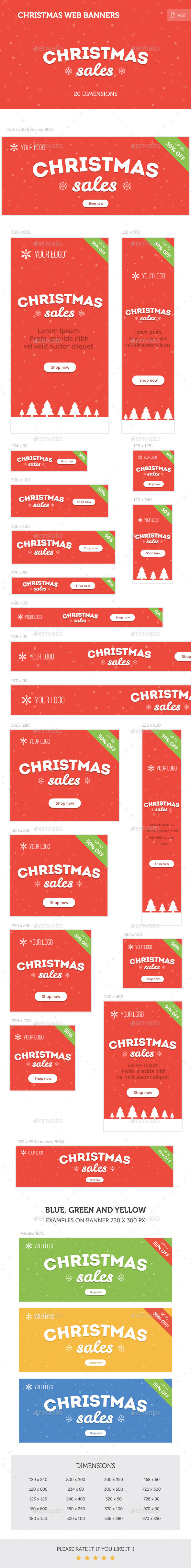 GraphicRiver Christmas Web Banners 9457850