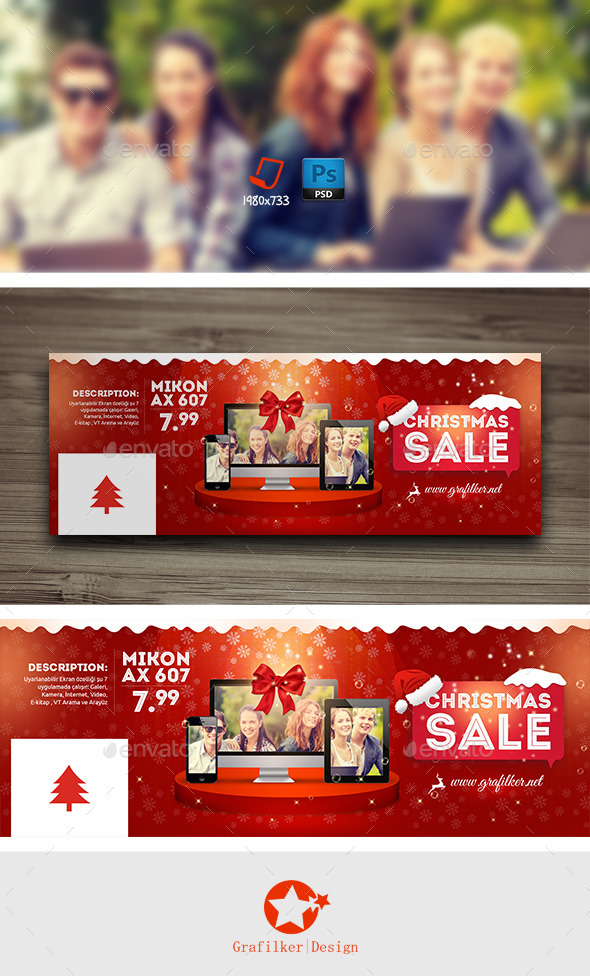 GraphicRiver Christmas Sale Cover Templates 9510977