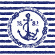Nautical Emblem with Anchor - GraphicRiver Item for Sale