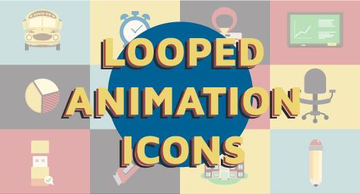 Flat Icons Animation